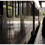 The Teheran bound Transasia Express Train is about to leave.  Train Station Ankara, Turkey 2012