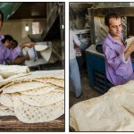 A special variety of Lavash bread is baked at this bakery on the roadside to Damavand. Lavash is considered the most widespread bread in Azerbaijan, Armenia and Iran. The word lavash is turkish and the bread is probably of Armenian origin. Iran 2012
